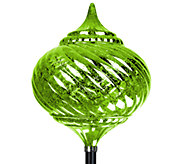 Exhart Solar Medium Onion Finial Garden Stake - H285590