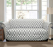 Edward Trellis Gray Love Seat Furniture Protectby Lush Decor - H290190