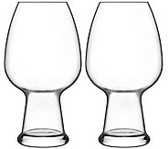 Luigi Bormioli Birrateque Set of Two 26.50-oz Wheat Glasses - H291590