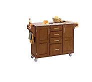 Home Styles LRG CreateACart-Cottage Oak FinishBe/GraniteTop - H145891