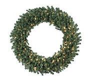48 Douglas Fir Prelit Wreath w/Clear Lights byVickerman - H156191