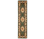 As Is Royal Palace French Savonnerie 23 x 96 Wool Rug - H209991