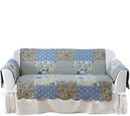 Sure Fit Heirloom Printed Patchwork Loveseat Cover - H211691