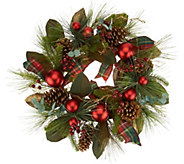 24 Mixed Pine, Berry and Pinecone Wreath by Valerie - H212591