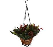 As Is Bethlehem Lights Lit Holiday Mini Hanging Basket - H214891