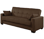 Serta Sonia Micro Suede Brown Click-Clack Convertible Sofa - H280591