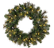 36 Prelit Modesto Pine Wreath w/ LED Lights byVickerman - H287691