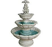 Design Toscano Lovers Under Umbrella SculpturalFountain - H293791
