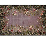 Royal Palace 8 x 11 Lavender Garden Wool Rug - H126292