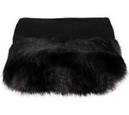 Dennis Basso Faux Cashmere Throw w/ Faux Fur Trim - H200792