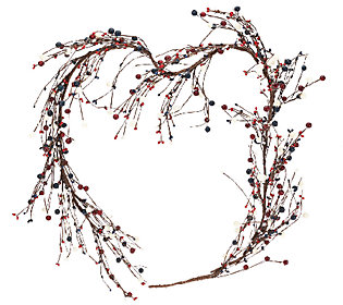 Red, White and Blue 4-foot Berry Garland by Valerie