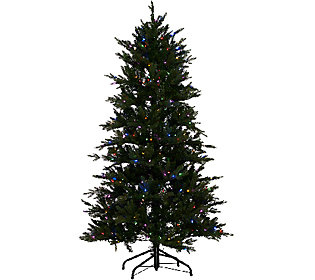Santa's Best 6.5' Grand Fraser Fir Tree w/ EZ Power & 8 Light Functions