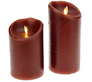 Luminara 5 and 7 Country Wax Flameless Candles w/Timer - H206592