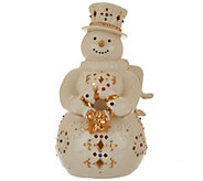 Lenox Porcelain Lit Figurine with 24K Gold & Multi Colored Crystal Accents - H208792