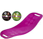 Simply Fit Core Workout Board with 2 DVDs by Lori Greiner - H211192