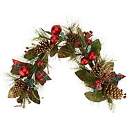 4 Mixed Pine, Berry and Pinecone Garland by Valerie - H212592