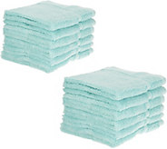 Home Reflections S/12 Cotton Performance Wash Cloth Set - H213192