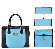 As Is Set of 3 Travel Organizers with Tote by Lori Greiner - H215892