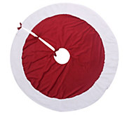 Berkshire Blanket Traditional Red/White Christmas Tree Skirt - H295192