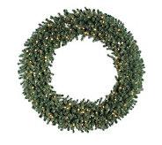 60 Douglas Fir Prelit Wreath w/Clear Lights byVickerman - H156193