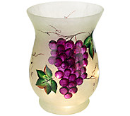 Frosted Glass Vase with Micro Lights by Valerie - H203593