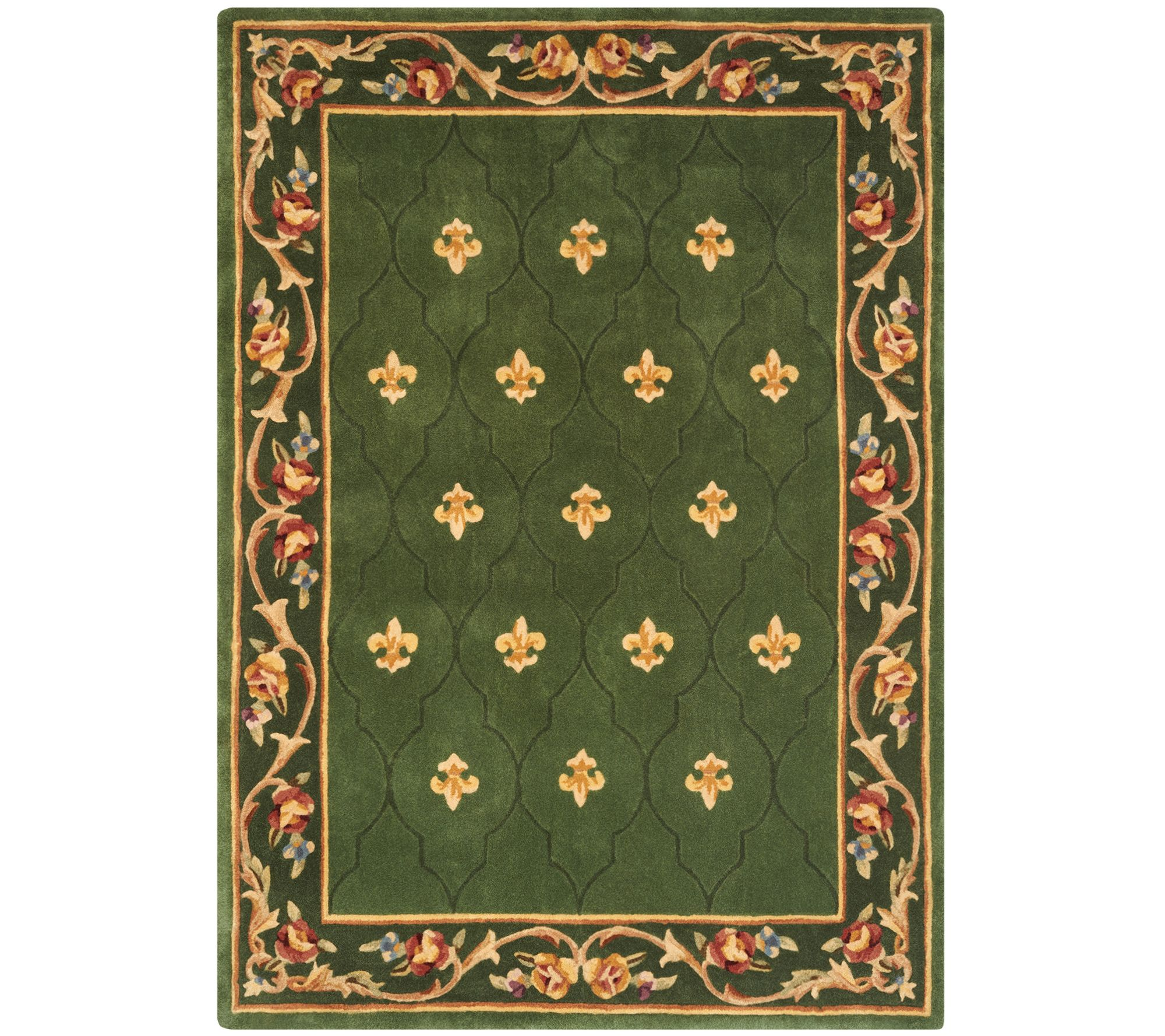 Wonderful 10 Foot Square Rug Part - 12: Royal Palace Special Edition 5u0027x7u0027 Fleur De Lis Wool Rug - H207293