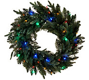 Bethlehem Lights Blue Spruce 24 Lit Wreath - H209193