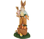 Father Bunny w/ Carrot Basket Spring Figurine by Valerie - H213793