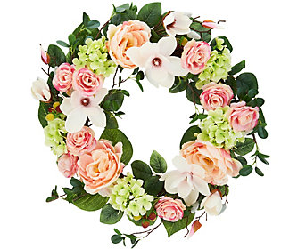 Seasons of Magnolia Wreath by Valerie Auto-Delivery