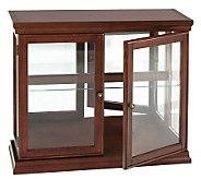 Bedford Mahogany Double-Door Curio Cabinet - H280693