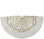 48 White Velvet Metallic Print Tree Skirt by Northlight - H286893