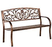 Plow & Hearth Blooming Garden Cast Aluminum Bench - H286993
