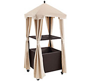 Palm Harbor Outdoor Wicker Towel Valet with Cover - H288593