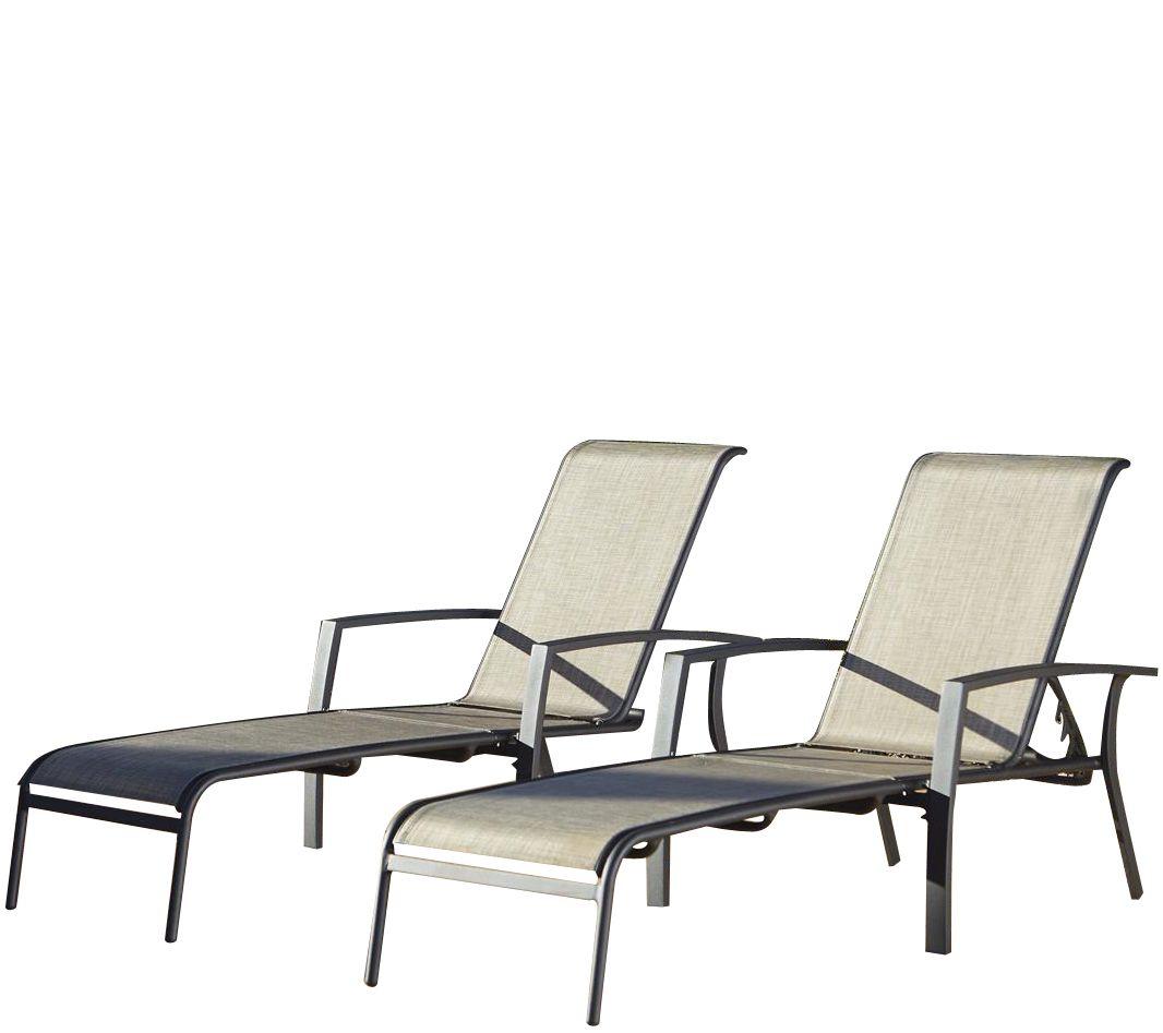 cosco serene ridge set of 2 aluminum chaise lounges. Black Bedroom Furniture Sets. Home Design Ideas