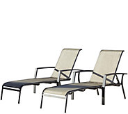 Cosco Serene Ridge Set of 2 Aluminum Chaise Lounges - H289093