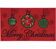 Nourison Essential 17 x 28 Merry Christmas Light Red Rug - H293093