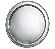 Silvertone 20 Round Fancy Edge Tray - H348793