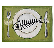 Meow Meal 19 x 27 Tapestry Rug - H349293