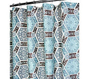 Watershed 2-in-1 Renaissance Tiles 72x72 ShowerCurtain - H349393