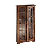 Lyndon Oak Finish Double Door Media Cabinet - H155594