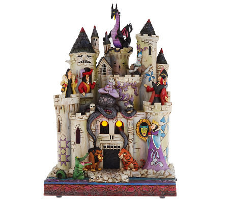 Jim Shore Disney Traditions Haunted Castle with Villans