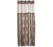 As Is Hookless Palm Leaves Linen 3 in 1 Shower Curtain - H208594