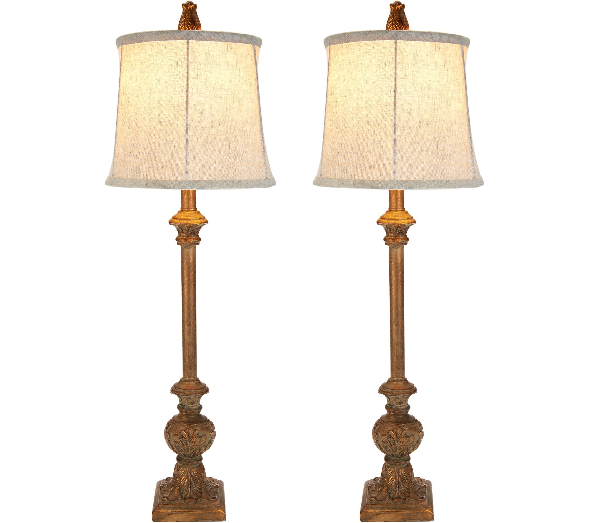 Set of 2 Embossed Leaf Plug-In Buffet Lamps by Valerie - Page 1 ...