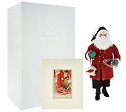Hallmark 19.5 Heritage Plaid Santa with Print & Gift Box - H212194