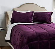 Berkshire Twin Velvet Soft Reverse to Sherpa Comforter Set - H212294