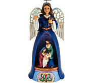 Jim Shore Heartwood Creek Lighted Nativity Angel Figurine - H212494