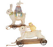 Bunny and Chick Riding on Rabbits Tabletop Accent by Valerie - H213694