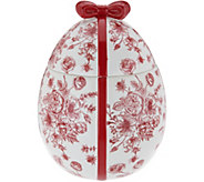 As Is HomeWorx by Harry Slatkin Ceramic Egg w/ 12oz. Candle - H216694