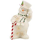 Lenox Happy Holly Days Snowman Lit Figurine - H289994