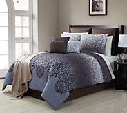 VCNY Home Damask 16-Piece Queen Comforter Set - H290794